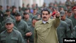 Maduro en un encuentro con militares en Caracas. (Archivo)