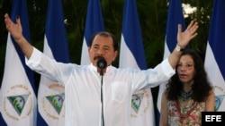 El presidente izquierdista de Nicaragua, Daniel Ortega.