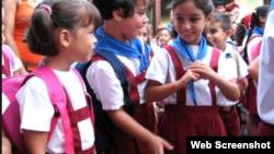 Reporta Cuba uniformes escolares