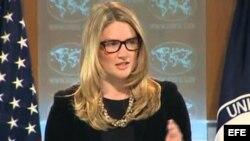 Marie Harf, portavoz adjunta del Departamento de Estado de EEUU.