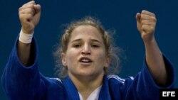 Imagen de archivo de Dayaris Mestre, una de las judocas cubanas que ganó el oro