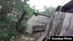 Daños en una vivienda tras paso del ciclón Foto cortesía de Yalmilka Abascal
