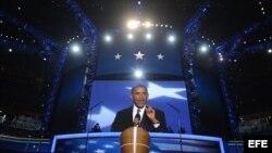 Obama expone su plataforma electoral en Charlotte.