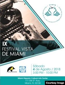 IX Festival Vista, que expondrá el trabajo de artistas y escritores en Miami.