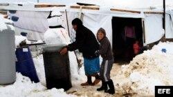 Refugiada siria en el oriente de Líbano