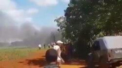 Cae avión de combate en poblado Güira de Melena