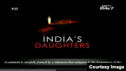 Imágen del canal indio al que le prohibieron emitir el documental.