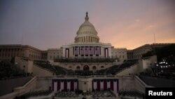Vista del Capitolio horas antes de iniciar el histórico momento.