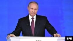 Putin pronuncia su discurso anual sobre el estado de la nación.