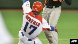 Guillermo Heredia cuando formaba parte del equipo Cuba. (KAZUHIRO NOGI/AFP/Archivo)