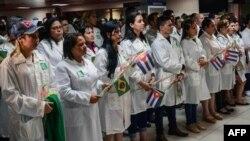 Médicos cubanos trabajando en el progrma Mais Médicos de Brasil. (Archivo)