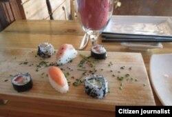 El sushi de la Paladar de Santiago (T. Díaz C.)
