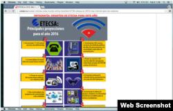 Logo de Connect Cuba en página de ETECSA.