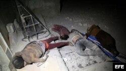 Ataque químico contra civiles en la ciudad siria de Duma.
