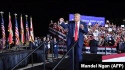 El presidente Trump en Pensacola, Florida, el 23 de octubre de 2020 (Mandel Ngan / AFP).