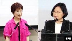 Candidatas a la presidencia de Taiwán.