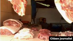 Reporta Cuba. Carne de cerdo. Foto: Aimara Peña.