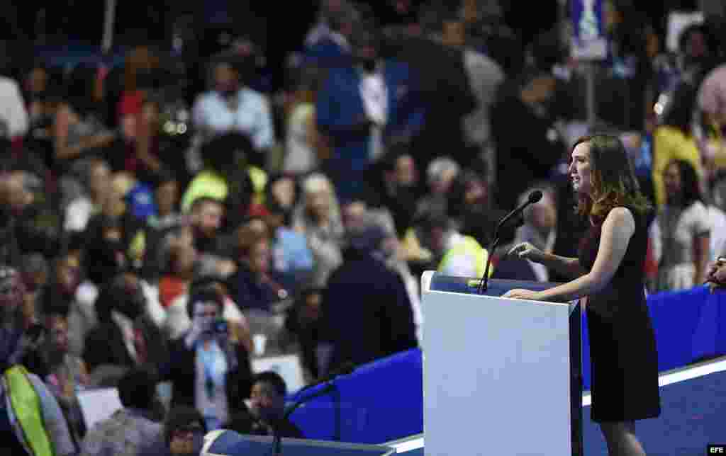 La activista LGBT y primera persona transgenero en hablar en la Convención Nacional Demócrata (DNC) Sarah McBride