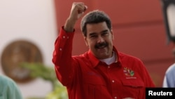 El presidente de Venezuela, Nicolás Maduro, en el Foro de Sao Pablo, en Caracas.