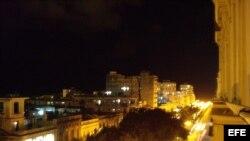 La Habana nocturna vista desde el Hotel Sevilla