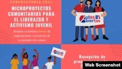 Convocatoria de Aulas Abiertas a jóvenes de la sociedad civil cubana