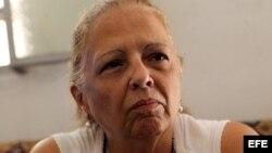 Marta Beatriz Roque tras iniciar huelga de hambre.