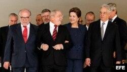 La presidenta de Brasil antes de la juramentación