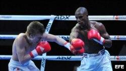 Pelea por los 75 kgs de la IV Serie Mundial de Boxeo, en La Habana. Archivo.