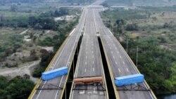 Ayuda humanitaria para los venezolanos ha llegado a Colombia pero el gobierno de Nicolás Maduro bloqueó el puente por donde debía pasar
