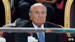 El presidente de la FIFA, Joseph Blatter. Foto de archivo