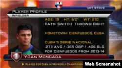 Yoan Moncada bateó para .273 en Cuba.