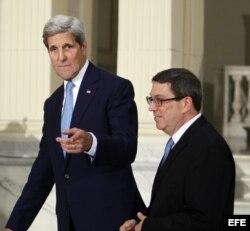 Kerry planea reunirse de nuevo con su homólogo cubano Bruno Rodríguez.