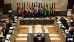 Vista general de la sesión inaugural de la Reunión Extraordinaria del Consejo de Ministros del Foro del Caribe (Cariforo)