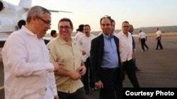 Inicia canciller cubano visita oficial a Venezuela.