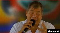 Rafael Correa durante uno de sus últimos programas 'Enlace Ciudadano'.