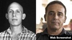 Combinación de fotografías de los presos políticos cubanos Ariel Ruiz Urquiola y Eduardo Cardet.