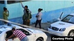 Foto Archivo. El activista Angel Moya fotografió un operativo de más de 24 horas frente a la sede de las Damas de Blanco.