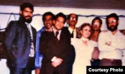 Miembros del CCPDH en 1987. Participaron en el Coloquio en La Habana Ernesto López Fundora (i) Edmigio López Castillo (c) y el autor (d).