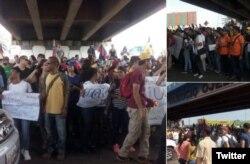 La oposición se lanzó a la calle en protesta contra la suspensión del revocatorio contra el presidente Maduro.