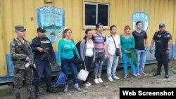 Cubanos detenidos en Honduras.