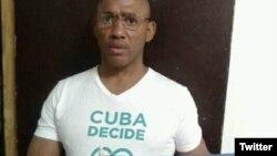 Maykel Herrera Bones, activista de los derechos humanos afiliado a Cuba Decide y la Unión Patriótica de Cuba, UNPACU.