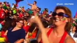 Fuegos artificiales en Portugal para celebrar su primera Eurocopa