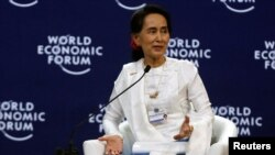 Aung San Suu Kyi el World Economic Forum.