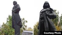 Estatuas de Lenin y Varder.