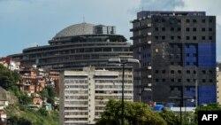 Vista general de El Helicoide, cuartel general del Servicio Bolivariano de Inteligencia Nacional (SEBIN).