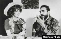 Fidel Castro y Gina Lollobrigida en La Habana