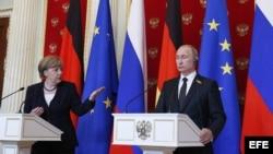 Angela Merkel de visita en Moscú