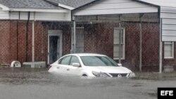 Severas inundaciones en Latta, Carolina del Sur.