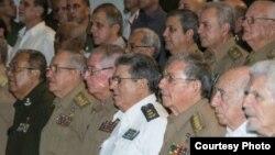 Raúl Castro y altos oficiales del MINFAR y MININT