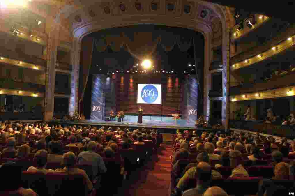 Interior del Gran Teatro de La Habana, donde está previsto que el presidente Obama haga su discurso.